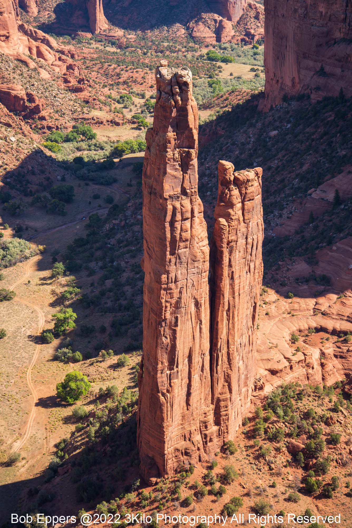 Photo of Spider Rock in Canyon de Chelly.