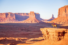 Photo of The Rider at Monument Valley.