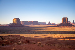 Photo of Monument Valley early morning.