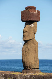 Photo of the Moai with Eyes