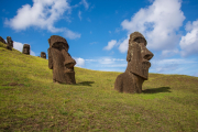 Photo of Buried Moai at the Quarry on Easter Island