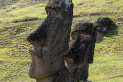 Photo of Buried Moai at the Quarry