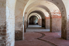Photo of one of the Main Gun Rooms at Fort Pulaski near Savannah, GA