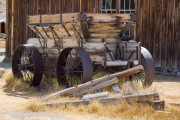 Photo of an old ore wagon in Bodie, CA