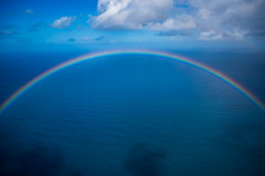 Photo of a 180 Degree Rainbow taken off the NaPali Coast of kauai.
