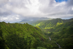 Photo of Canyon and Clouds in Kauai, Hawaii