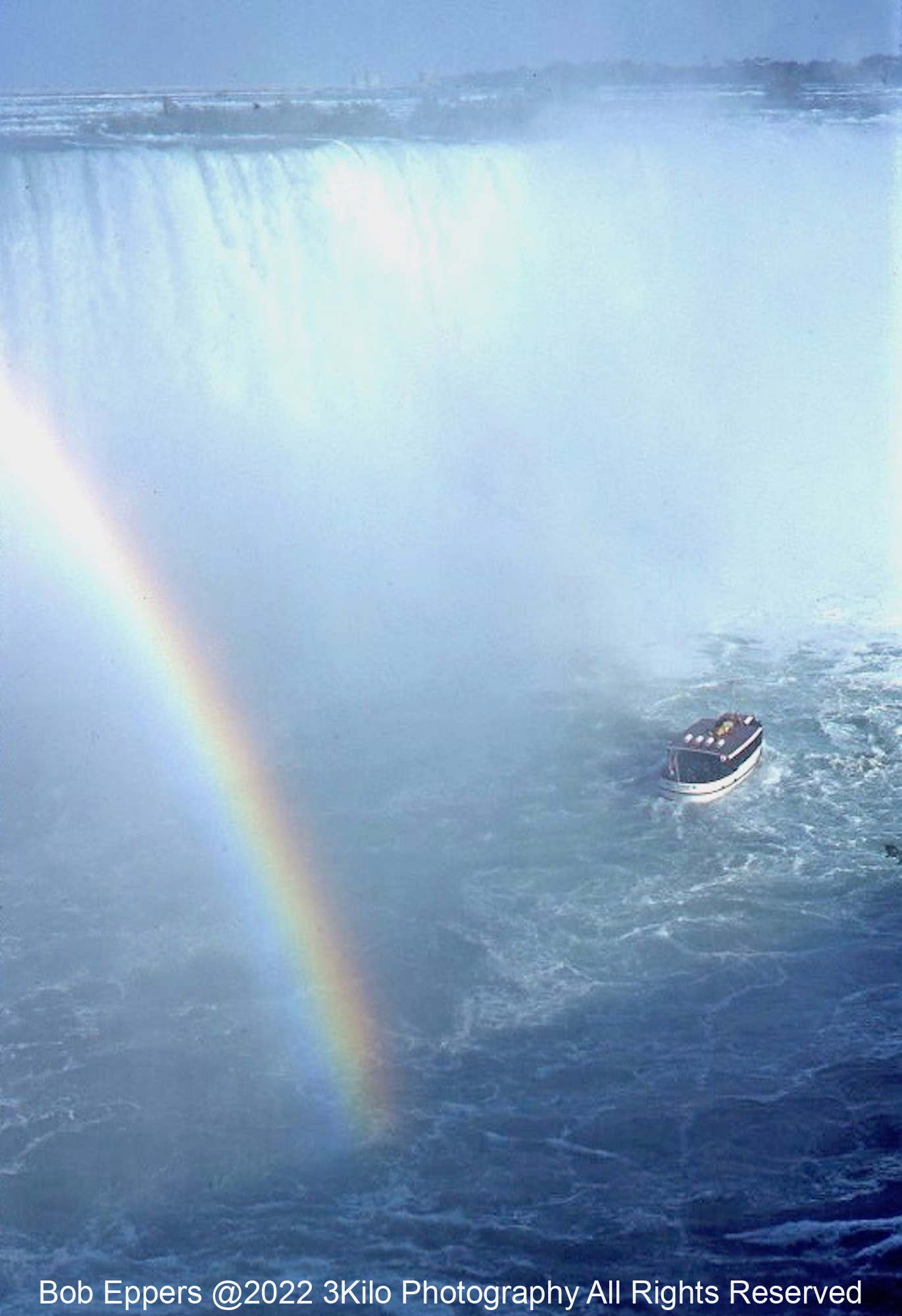 Photo of the Maid of the Mist and Rainbow at Niagara Falls.  This was taken from a 35mm slide over 40 years ago.