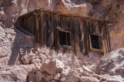 Photo of an old Miners Shack at the Calico Gold Mine in CA