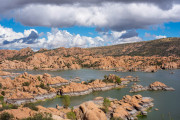 Photo of Sky and Water at Watson Lake at Prescott, AZ