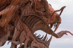 Photo of the sheetmetal Dragon at Borrego Springs, CA