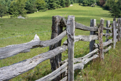 Photo of an old Rail Fence along the Blue Ridge Parkway