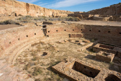 Photo of Ceremonial Pit at Chaco Canyon