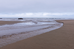 Photo of Bandon Beach late afternoon