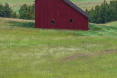 Photo of the Saltbox Barn at Sunrise in the Palouse