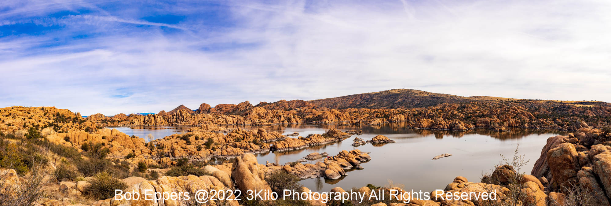 Photo of Watson Lake in late afternoon.