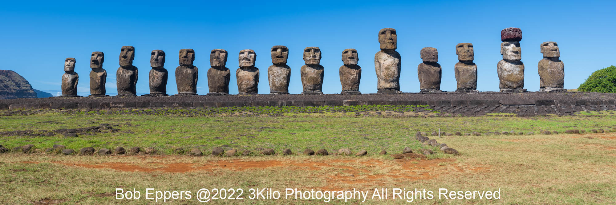 Photo of the 15 Moai on Easter Island