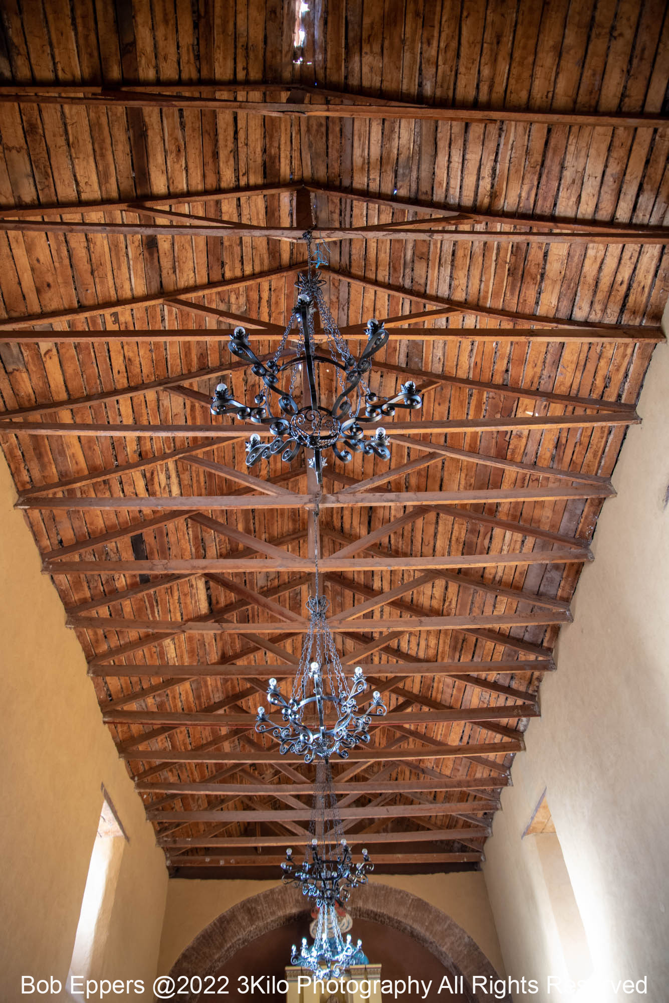 Photo of the Roof inside the Church at the Monastery.