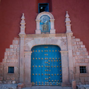 Photo of the Church Entrance at the Monastery in Ollantaytambo.