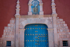 Photo of the Church Entrance at the Monastery in Ollantaytambo.