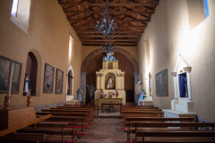 Photo of the inside of the Church at the Monastery in Ollantaytambo.  This Church and Monastery was built starting in the 1590's.