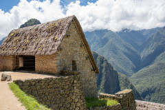 Photo of the Entrance to Machu Picchu, Peru