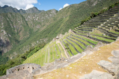 Photo of the long walk up to the top of Machu Picchu.  Just a small view of the many terraces.