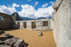 Photo of Windows in Machu Picchu.  These Windows are built to dissipate the shock waves of an earthquake.