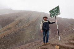 Photo near the Top of Rainbow Mountain.  Over 17,000 feet high.