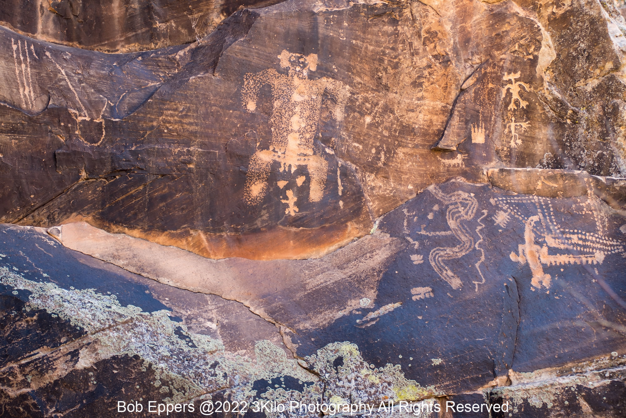 Photo of the Birthing Petroglyph in Chevelon Creek, AZ