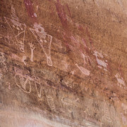Photo of the Sego Canyon Petroglyphs