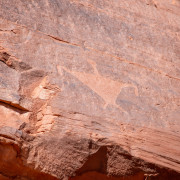 Photo of the Triangle Man in Canyon de Chelly