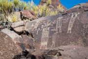 Photo of Petroglyphs in the Coso Mountains.