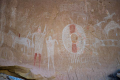 Photo of the Sego Canyon Pictograph
