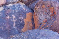 Photo of Petroglyphs and Lichen in the Coso Mountains, CA