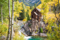 Photo of the Old Crystal Mill in Colorado.