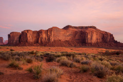 Photo at Sunrise in the Monument Valley.