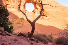 Photo of the Hole in the Wall in Monument Valley.