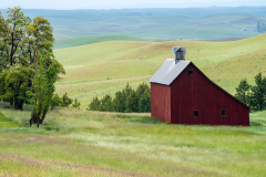 Photo of the Saltbox Barn in the Palouse