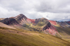 Photo of the Rainbow Valley in Peru.