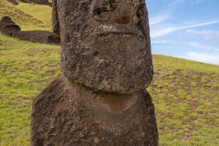 Photo of a Buried Moai at the Quarry on Easter Island