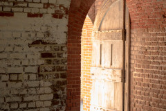 Photo of one of the Doors to Main Gun Gallery at Ft Pulaski.