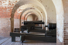 Photo of Cannons in one of the Main Gun Galleries in Ft Pulaski