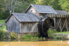 Photo of the Old Mabry Mill along the Blue Ridge Parkway in North Carolina .