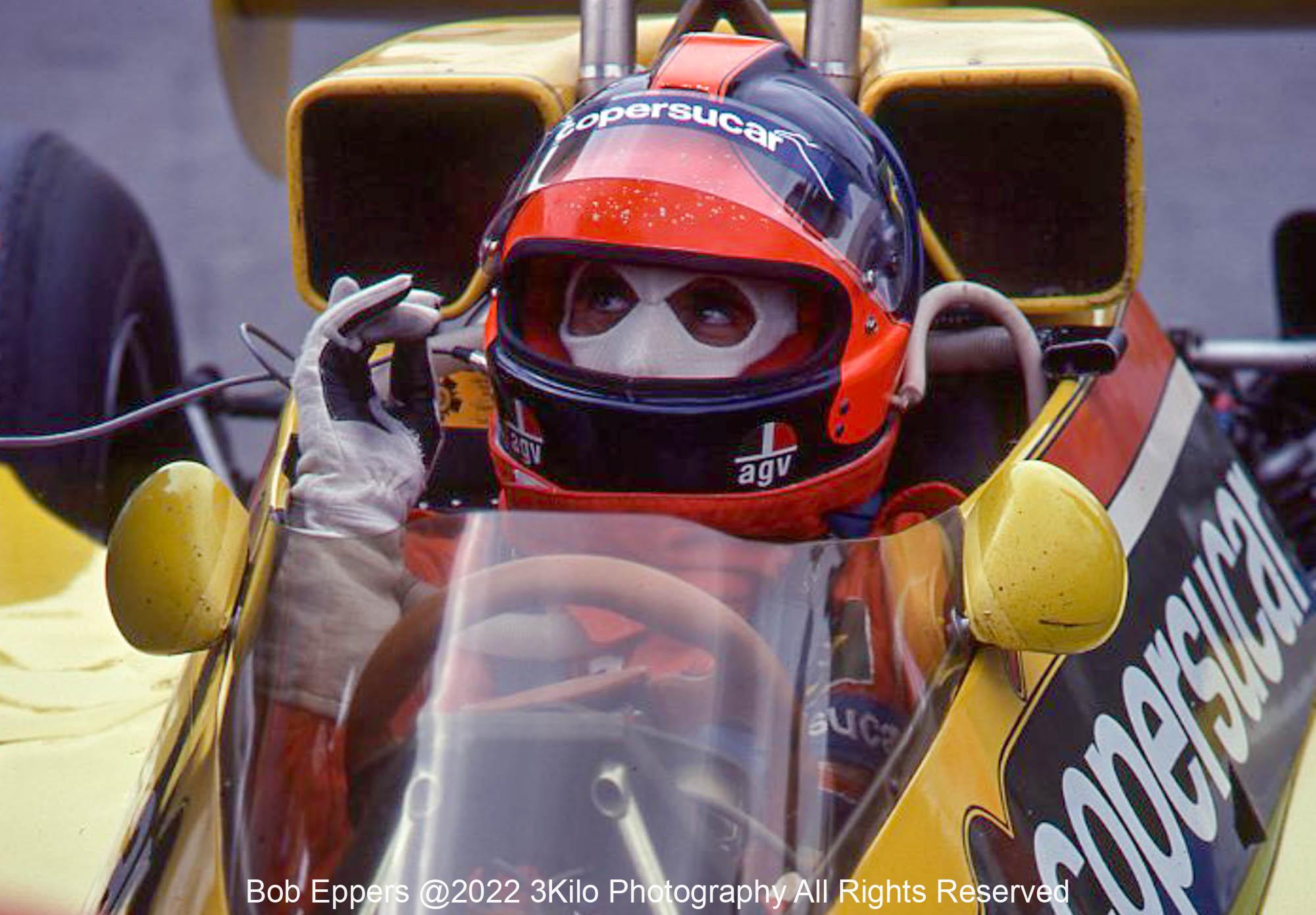 Photo of F1 Copersucar with driver Emerson Fittipaldi  1977 F1 LBGP