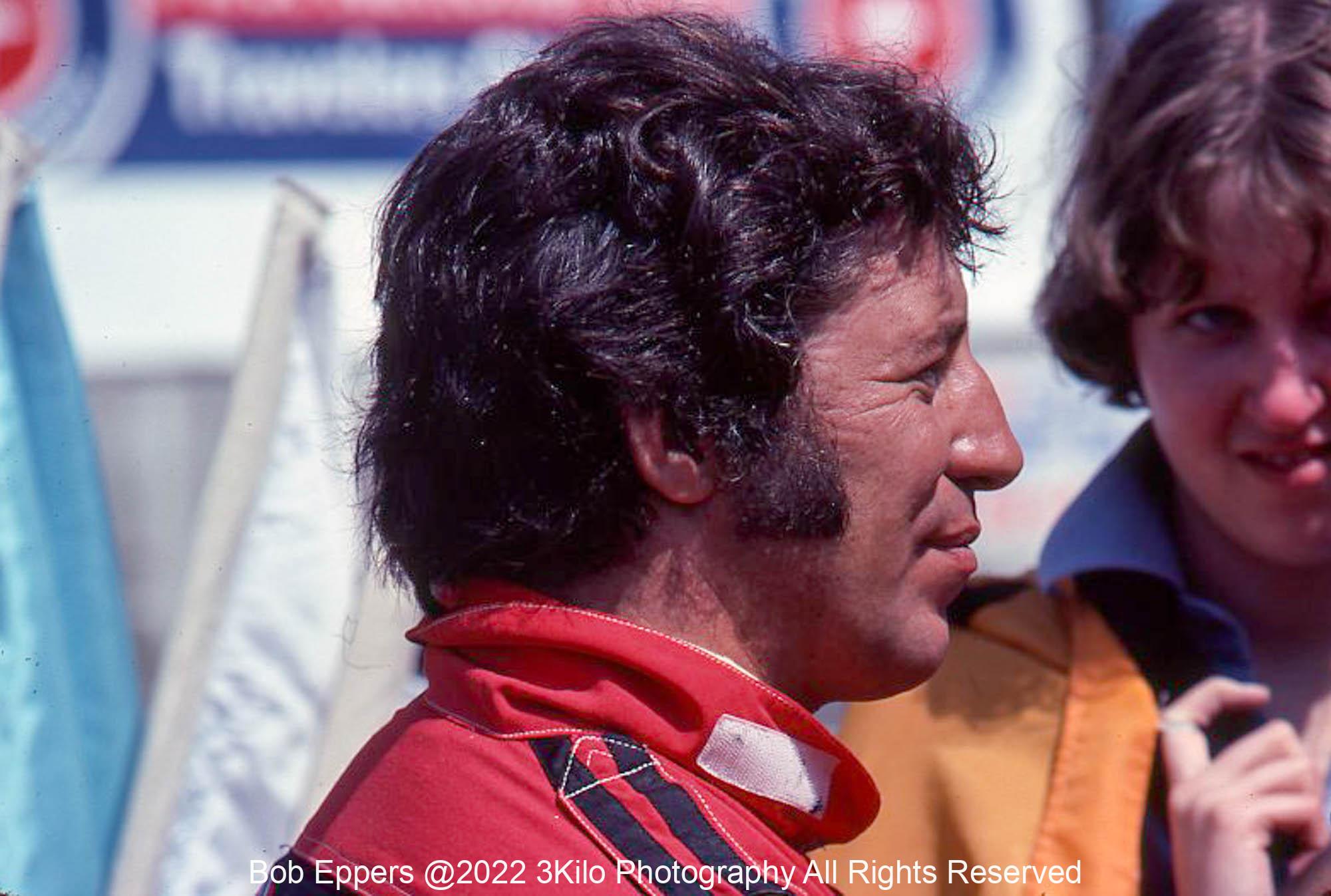 Photo of Mario Andretti.  1977 F1 LBGP