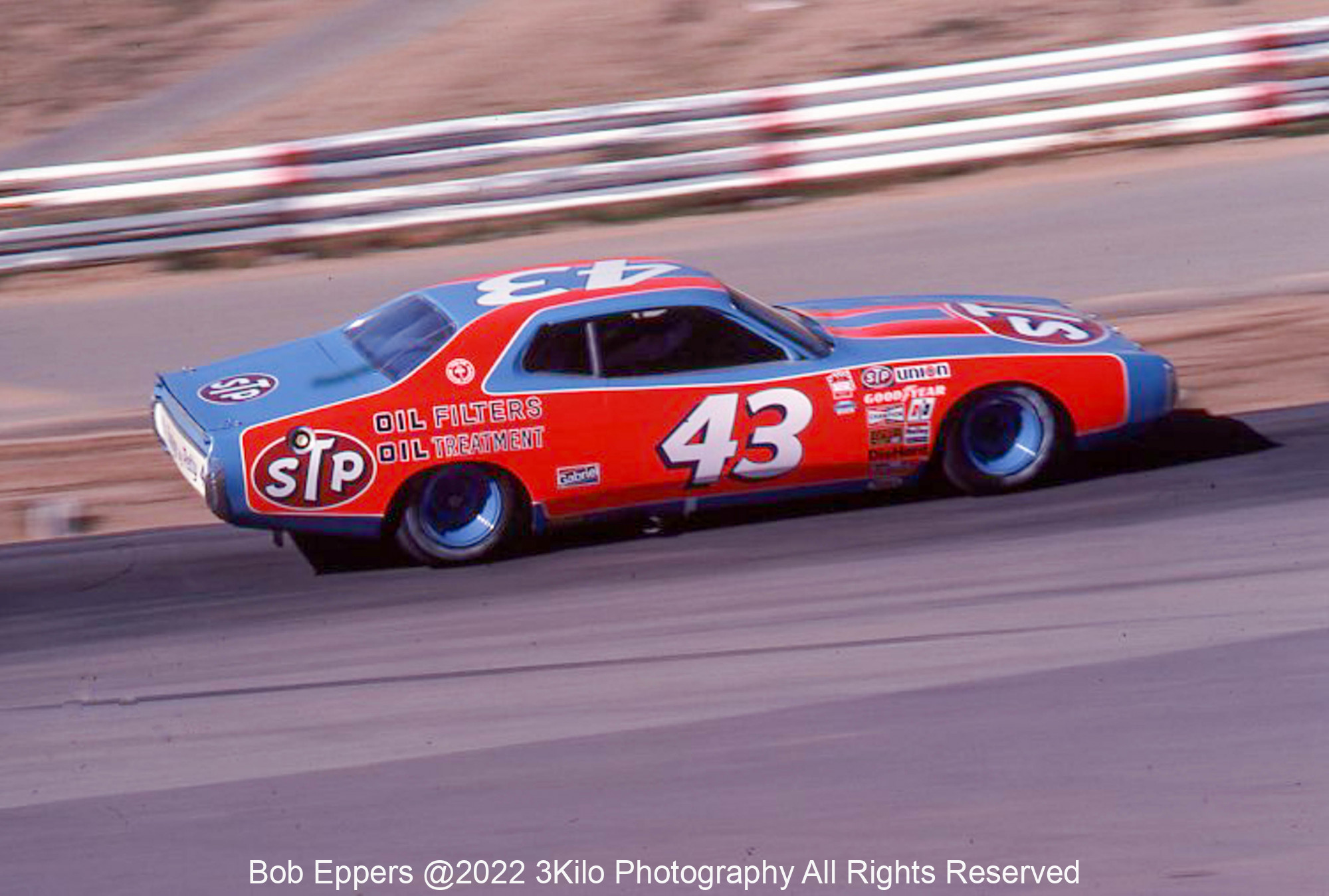 Photo of a NASCAR race at Riverside, CA