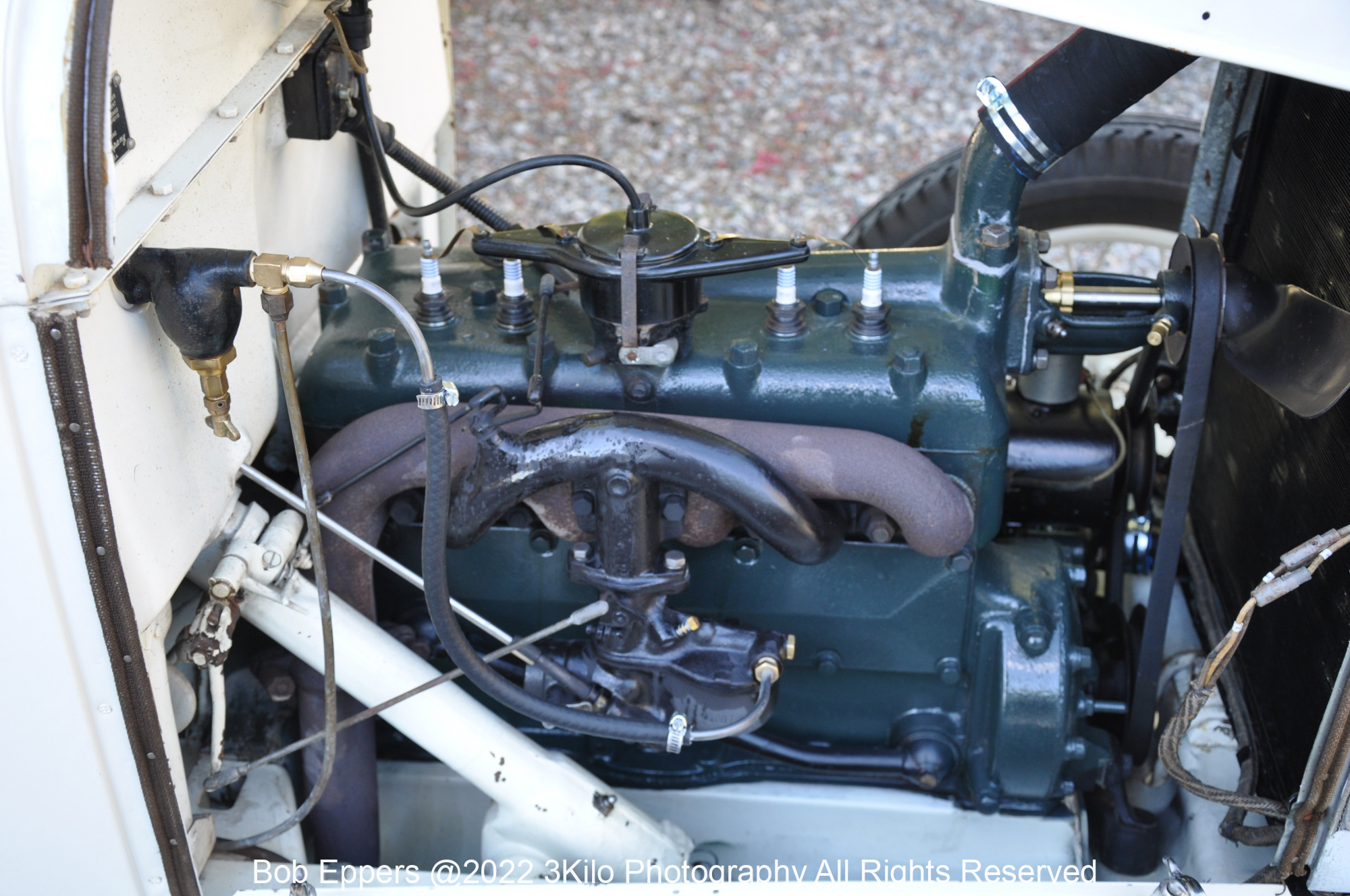 Photo of the engine in the 3 Kilo Speedster