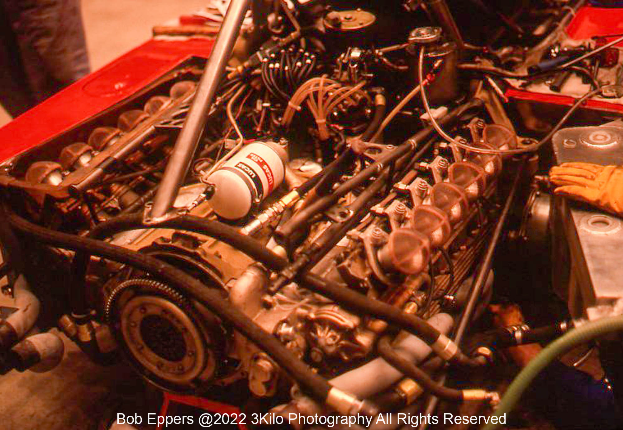 Photo of a F1 Ferrari Flat 12.  1976 F1 LBGP