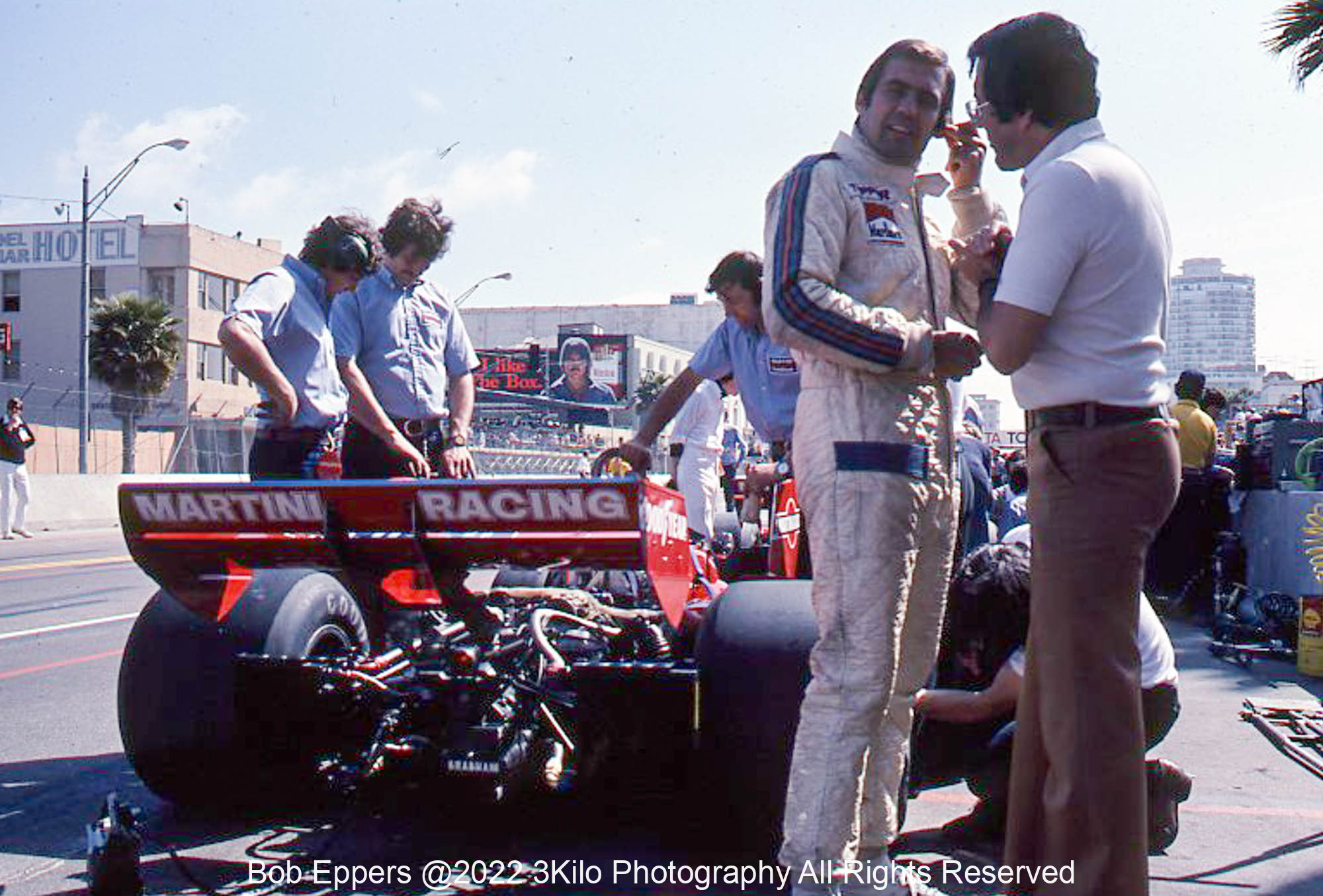Photo of F1 Brabham and Carlos Reutemann.  1976