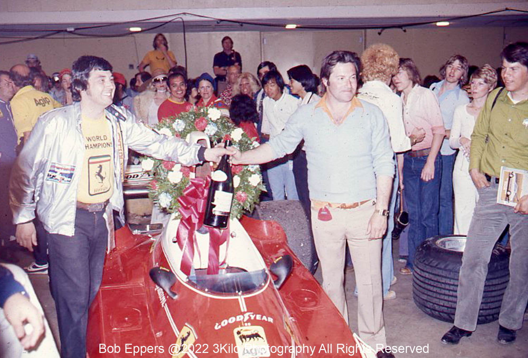 Photo of Victory Party in the Long Beach  Auditorium.  1976